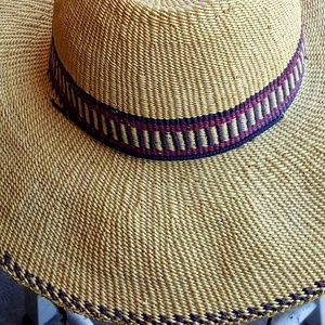 Woven palm straw large brim sunhat..poolside or be